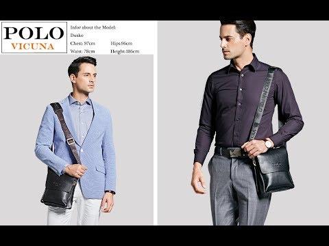 Best Cheap Leather Men Bag 2017   Casual   Business   Mens Messenger Bag   Crossbody Bag