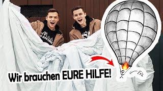 Wir bauen einen RIESIGEN HEIßLUFTBALLON aus 1000 BETTTÜCHERN!  |  Der Communityballon #1