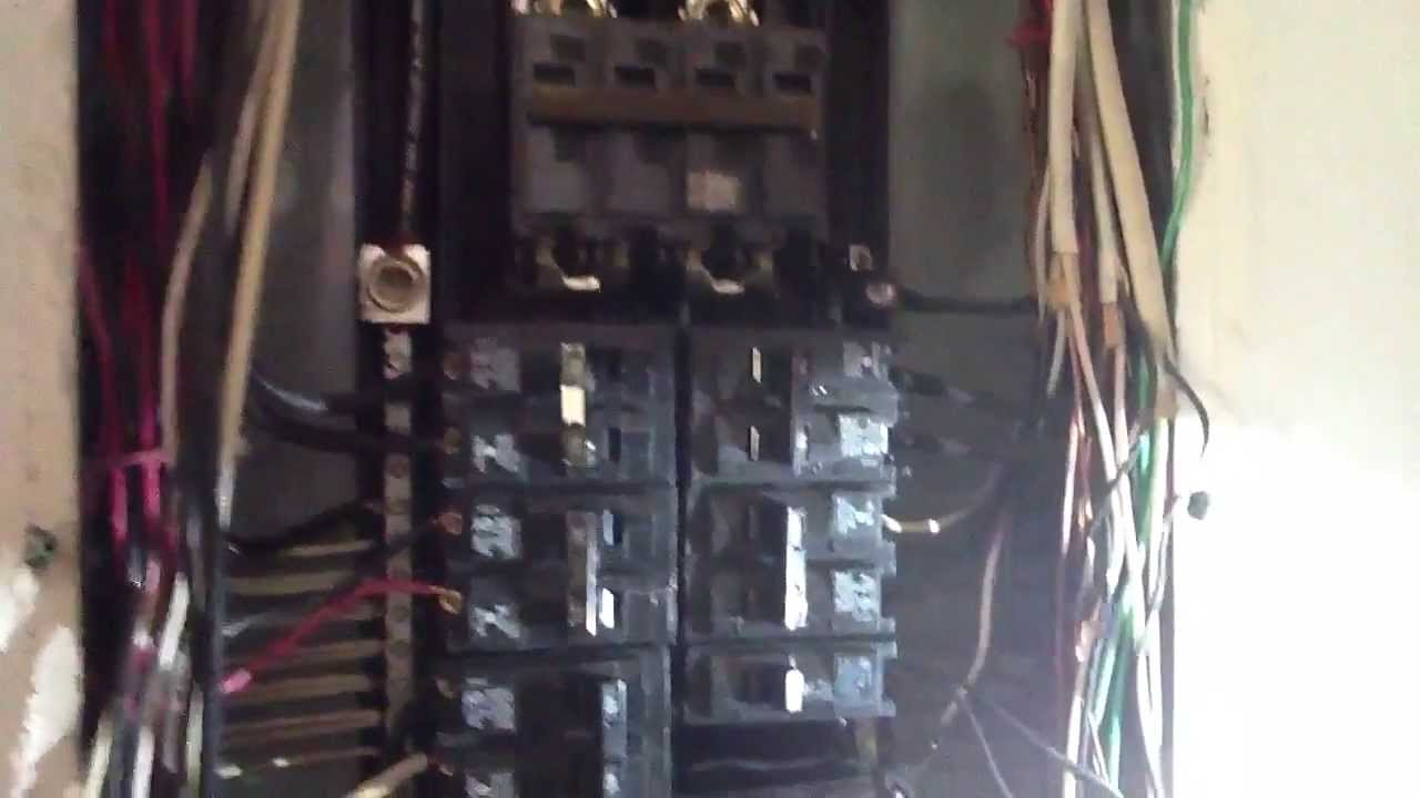 how to replace a burnt breaker ac repair youtube rh youtube com Old House Fuse Box Old House Fuse Box