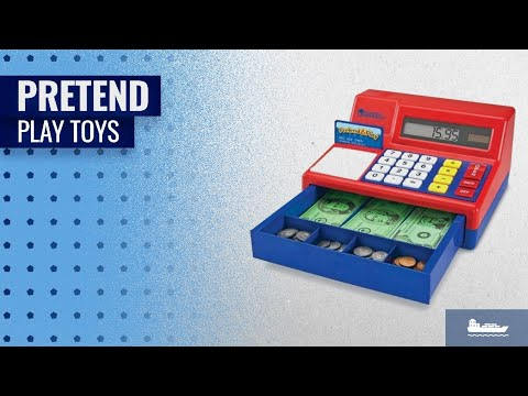 Money & Banking Pretend Play Toys: Learning Resources Pretend and Play Calculator Cash Register, Set
