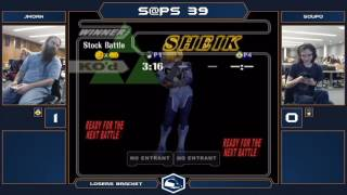 S@PS 39 Melee Singles - JMOAN (Sheik) vs Soupo (Marth) - Losers Eighths