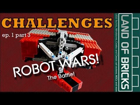 LEGO BATTLE! Land Of Bricks Building Challenges E1P3 - Fighting Robots