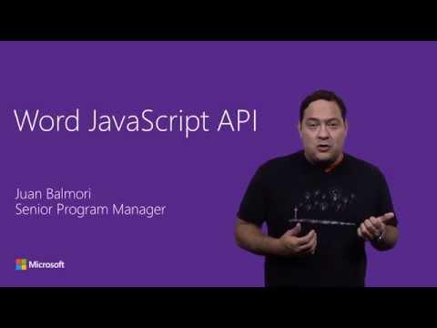 Word JavaScript Add-in APIs