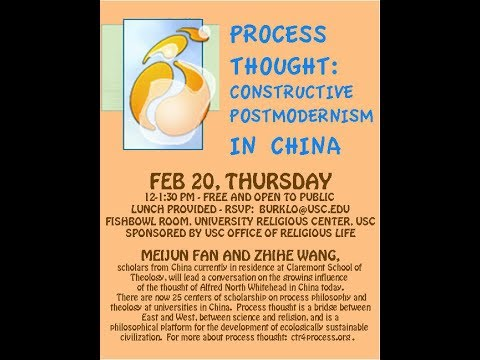 Process Thought: Constructive Postmodernism in China