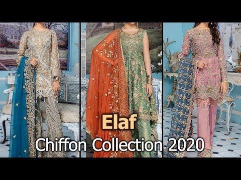 Latest Collection Of ELAF PREMIUM (VOL-4) Designer Chiffon Dresses 2020 | Pakistani Chiffon Suits