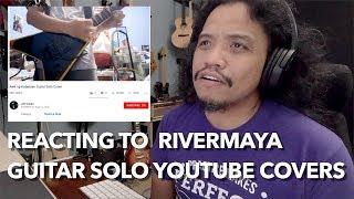 Reacting to RiverMaya Guitar Solo Covers   #PRACTICEMAKESPERFECTO