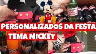 PERSONALIZADOS DA FESTA DO LORENZO | TEMA MICKEY , DEI VARIAS DICAS DE COMO EU FAÇO TUDO ISSO !!