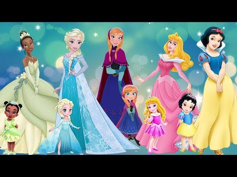 Five Little Disney Princesses And Other Kids Songs | Tiana Elsa Rapunzel Snow White