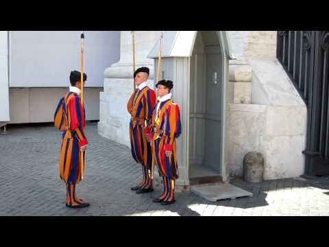 Changing of the Swiss Guards at The Vatican