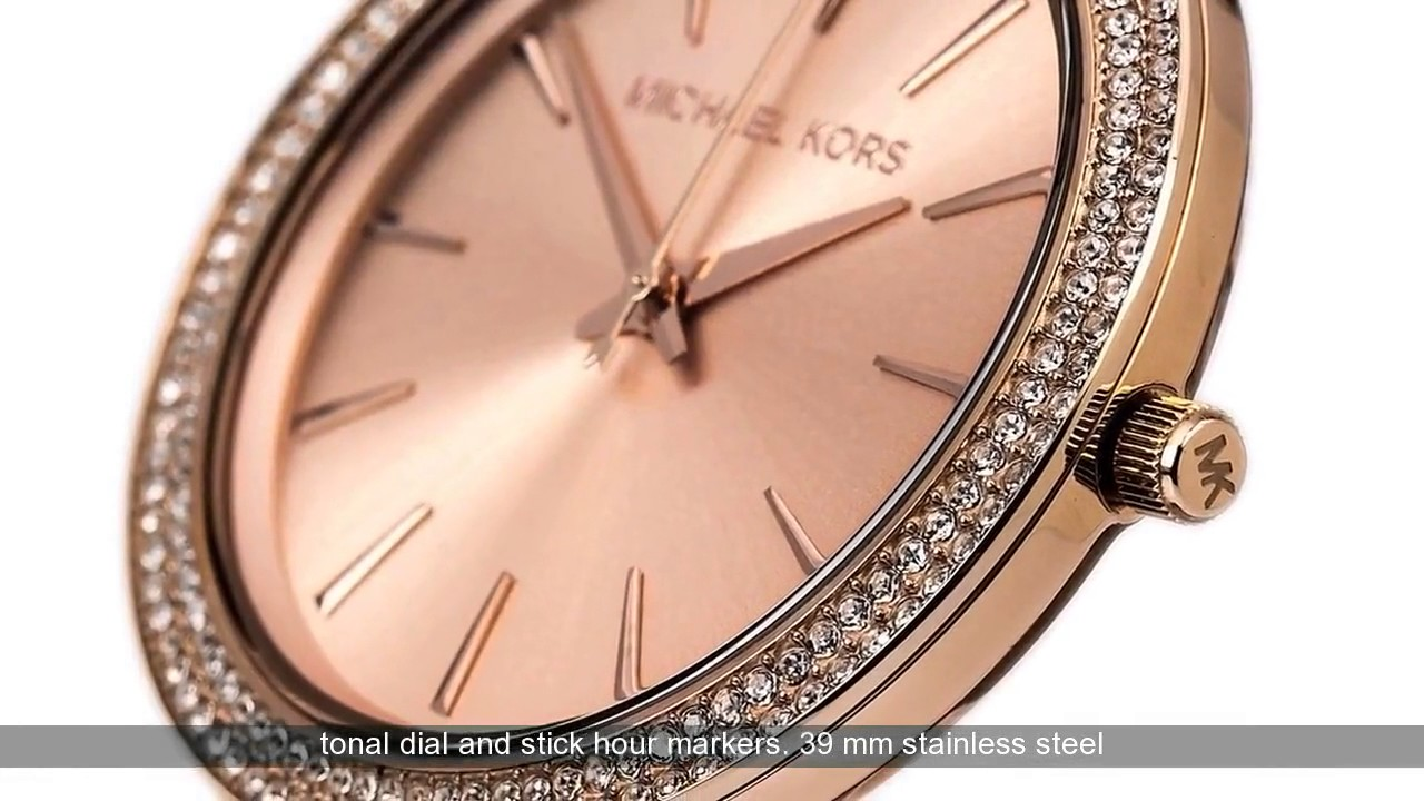 779c18017b9f Michael Kors Darci Pavé Rose Gold-tone Watch Review - YouTube