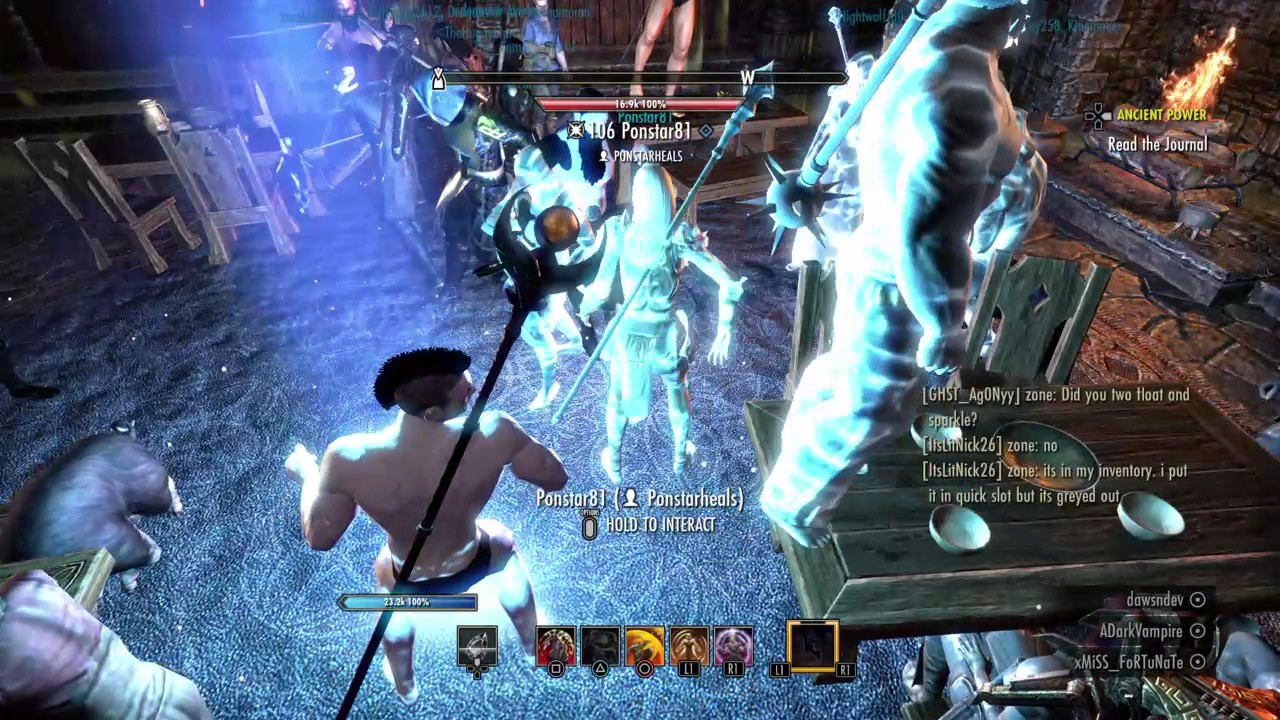 The Elder Scrolls Online: The nakedness of friends - YouTube