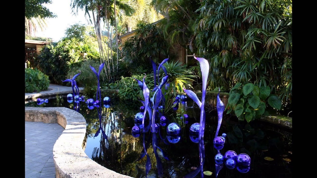 Dale Chihuly Exhibit At Fairchild Tropical Botanical Gardens Miami Youtube