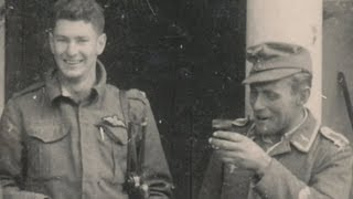 Shot down Spitfire pilot returning to lines with German prisoners; Peter During