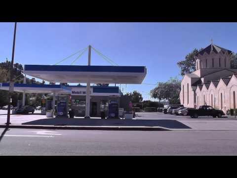 Driving around Glendale, California
