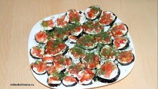 Рецепт- Жареные баклажаны с помидорами и зеленью от videokulinaria.ru