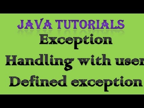 10.8 Exception Handling in Java Practical Part 6 User Defined Exception
