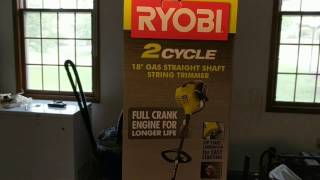 Ryobi 2-Cycle 25cc Gas Full Crank Straight Shaft String Trimmer Review and Unboxing