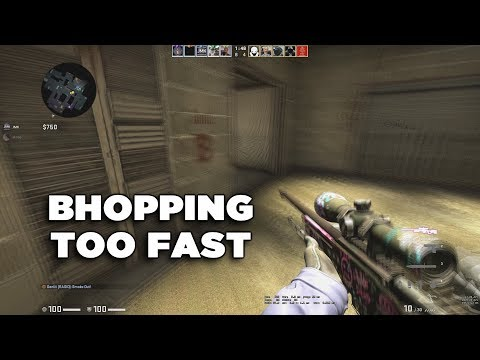 Bhopping over the speed limit in CS:GO