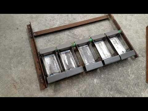 DIY Ingot Mold table for foundry
