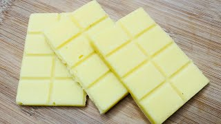 Homemade White Chocolate Bar Recipe   Only 3 Ingredients Chocolate Recipe   How to make Chocolate
