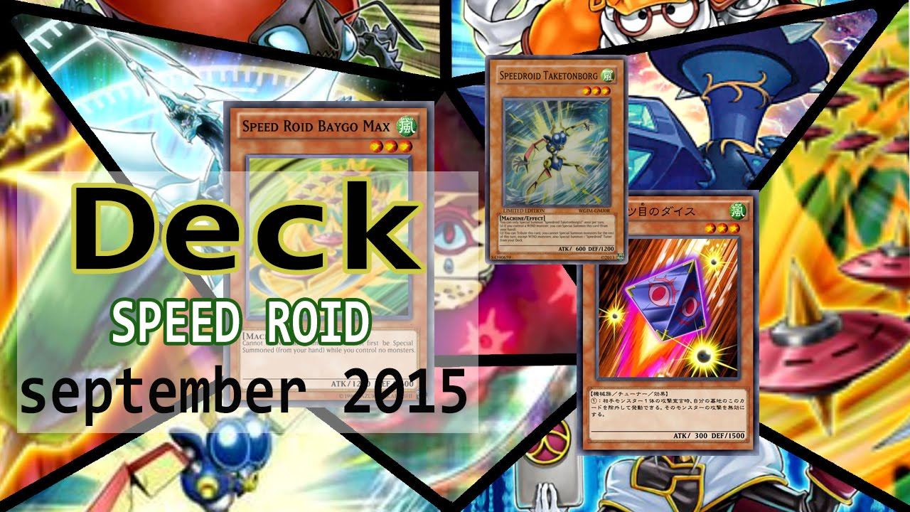 Yu gi oh speed roid deck profile september duels
