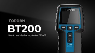 How to use TOPDON Battery Tester BT200?