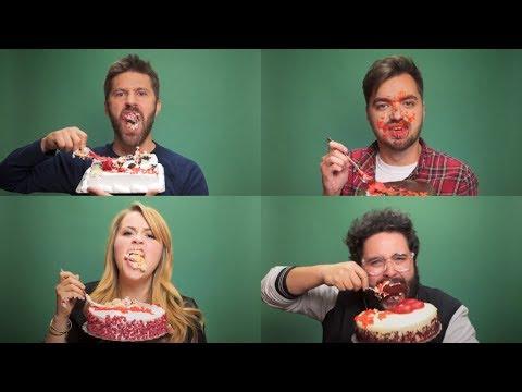 Singing CAKE While Eating Cake
