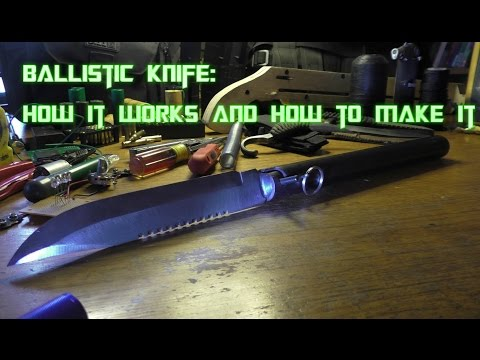 How To DIY: Homemade KGB Spetsnaz Black Ops Ballistic Knife