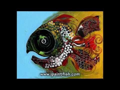Fish Art & Fish Paintings by J. Vincent Scarpace, #2 (Modern Artwork)