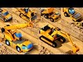 Kids Vehicles: Construction Vehicles - Bulldozer, Digger, Crane, Dump Truck