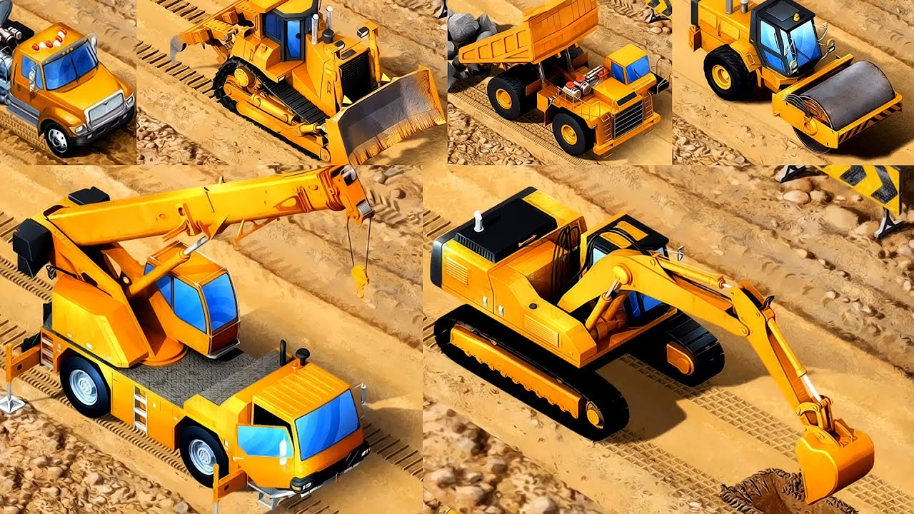 Kids Vehicles Kids Construction Vehicles App For Kids