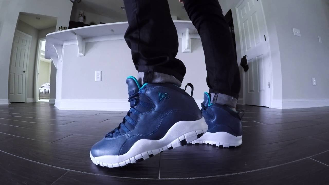 new arrival d33e1 f0921 ... get air jordan 10 city series la review with on feet 6fbd2 a2f82