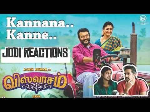 Download Lagu  Kannaana Kanney Song - Jodi Reactions | Viswasam | Ajith Kumar, Nayanthara|Sid Sriram 2018 Mp3 Free