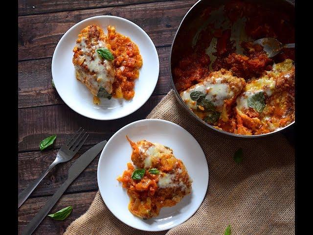 Cheesy Tomato & Basil Chicken | Low Carb Recipes | Chicken Recipes | Slurrp