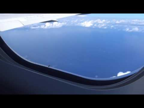 Starting approach into Maui, American Airlines Flt AA119 from DFW, 9/6/2015, 4K HD