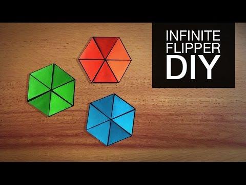 DIY Origami Hexaflexagon | How To Make Hexaflexagon | Infinite Flipper - Anushree's Craft TV