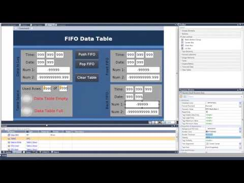 PLC Training: Data Tables FIFO and LIFO.UniLogic for UniStream by Unitronics