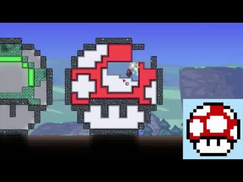 Terraria Pixel Art Mario Mushroom Smw Youtube