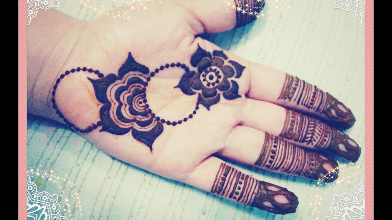 Floral Palm Henna Design Tutorial Gulf Mehndi Design Tutorial For