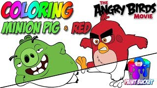 Download lagu Angry Birds Movie New Coloring Book - Red and Minion Pig Coloring Pages for Kids