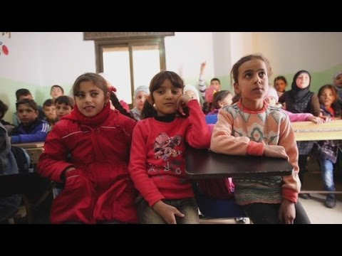 Secret school for Aleppo's children