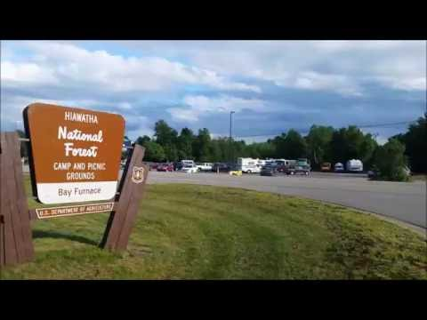 Hiawatha National Forest ~ Bay Furnace & Campground Tour ~ Near Munising MI Upper Peninsula