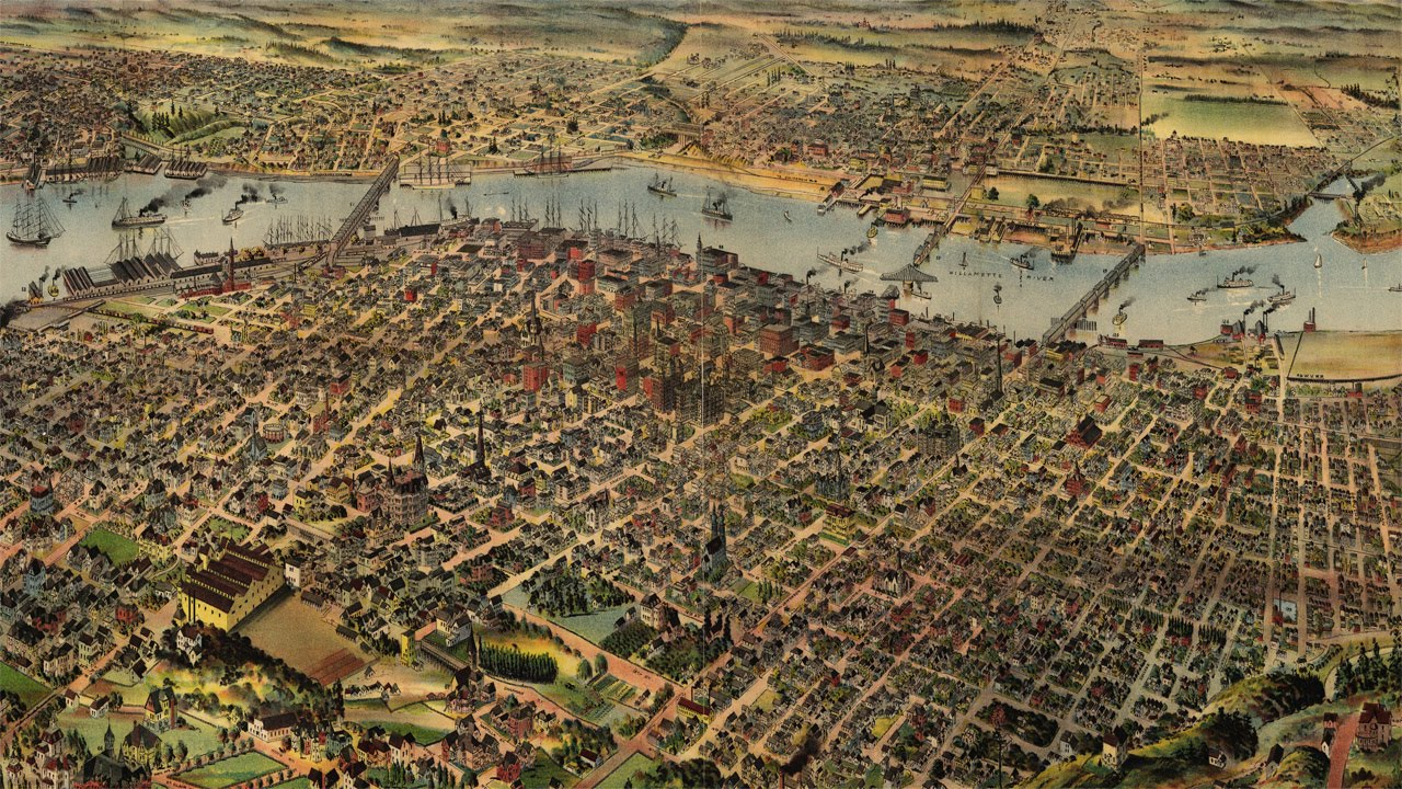 Portland Oregon History and Map (1890) - YouTube
