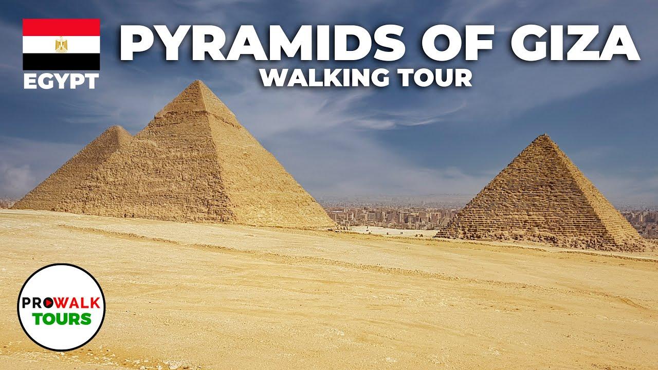 Pyramids of Giza Walking Tour (4K/60fps)