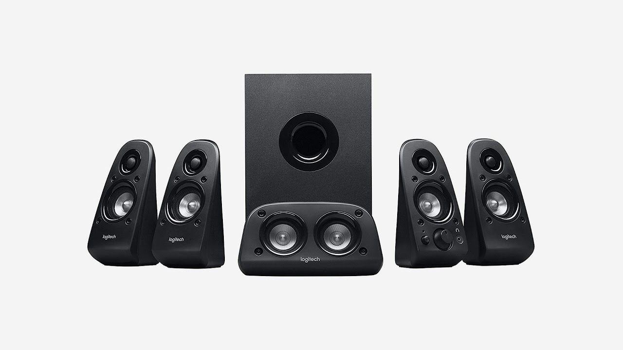 85e8baa445f Logitech Z506 Surround Sound Home Theater Speaker System - YouTube