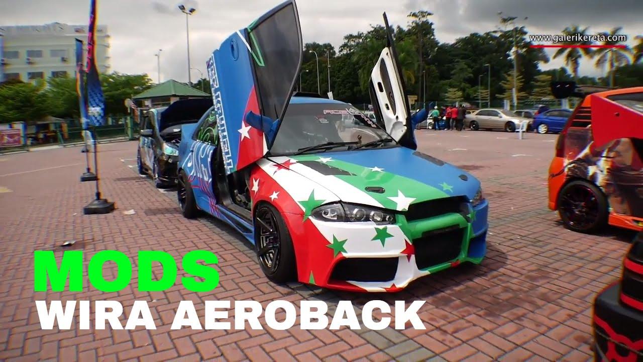 Proton Wira Aeroback Heavy Modified Auto Show Zero Carbon 2016