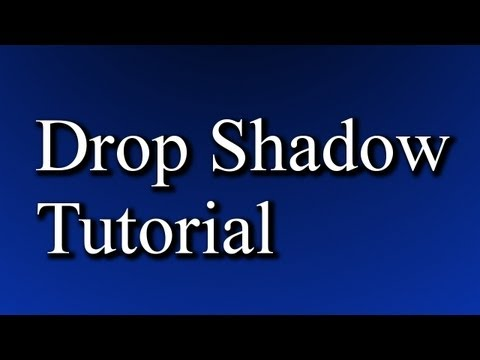 Drop Shadow Tutorial (Gimp)