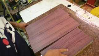 Luthier Wood Review:  Purpleheart dense hardwood beautiful color hard to work with tonewood