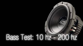 Bass Test:10 hz - 200 hz [Sound Only] Subwoofer