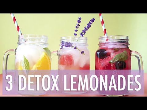 3 Healthy Detox Lemonade Recipes | EASY Summer Drinks